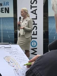 Tre ministrar besökte Maritim Mötesplats, arbetsmarknadsministern Ylva Johansson, infrastrukturministern Anna Johansson och utbildningsminister Anna Ekström.