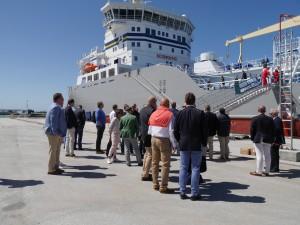 LNG-fartyget Tern-Ocean var på plats och lockade många besökare, bland annat Katarina Norén, ny generaldirektör på Sjöfartsverket